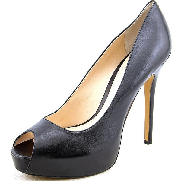 Vince Camuto Lorimina Open Toe Leather Platform Heel