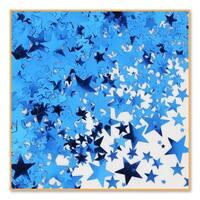 Pack of 6 Metallic Blue Star Celebration Confetti Bags 0.5 oz.