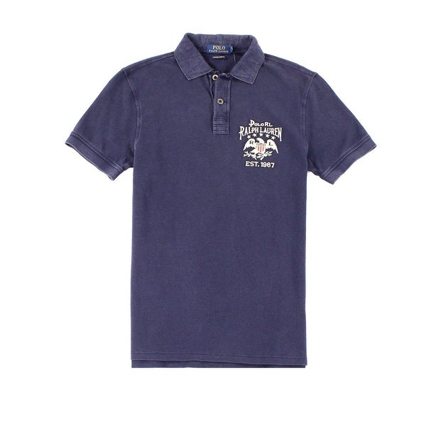 94d613dd Shop Polo Ralph Lauren NEW Blue Mens Size Small S Custom Slim-Fit Polo Shirt  - Free Shipping Today - Overstock - 21465090