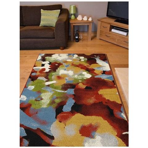 LR Home Matrix Abstract Impressionist Rug