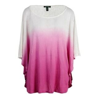 Lauren Ralph Lauren Womens Linen Ombre Pullover Top - M
