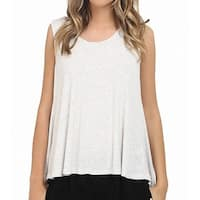 Heather by Bordeaux Light Gray Womens Small S Scoop Neck Tank Top