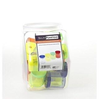 Baumgartens Cylinder Pencil Sharpener Single Hole ASSORTED Colors ()