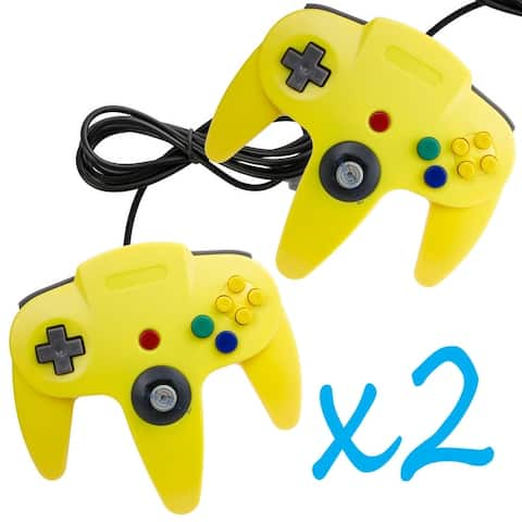 2 Pcs Long Handle Controller Pad Joystick for Nintendo 64 N64 System