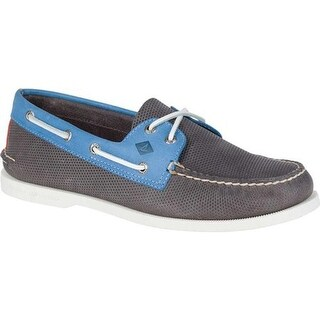 Sperry Top-Sider Men's Authentic Original Boat Shoe Grey/Blue Leather
