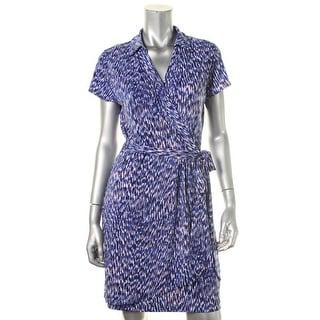 Karen Kane Womens Matte Jersey Printed Wear to Work Dress