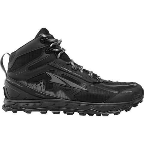 Altra Footwear Men's Lone Peak 4.0 Mid Mesh Trail Running Shoe Black