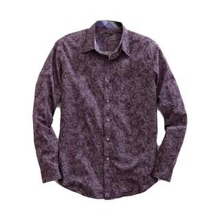 Tin Haul Western Shirt Mens L/S Button Purple 10-001-0164-0643 PU