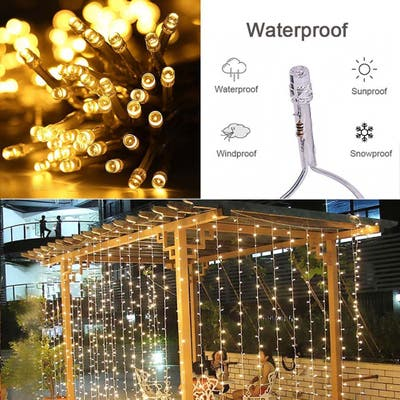 12M x 3M Romantic Christmas Wedding Outdoor Decoration String Light
