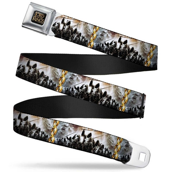 The Lord Of The Rings Full Color Black Gold 9 Ringwraiths Attack 3 Rings Seatbelt Belt