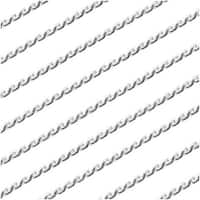 Silver Plated Sleek Beading Chain .7mm Bulk By The Foot