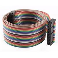 2.54mm Pitch 26 Pin 26 Wire F/F Connector IDC Flat Rainbow Ribbon Cable 118cm