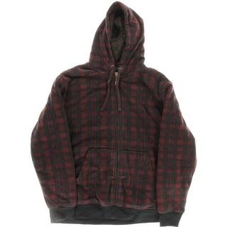 Weatherproof Mens Sherpa-Lined Full-Zip Fleece Jacket
