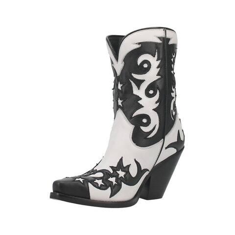 Dingo Fashion Boots Womens Raindance Leather Stars Pull On
