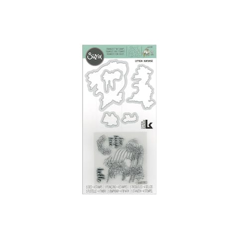 Sizzix LKanase Framelits Die/Stamp Succut Birdcage
