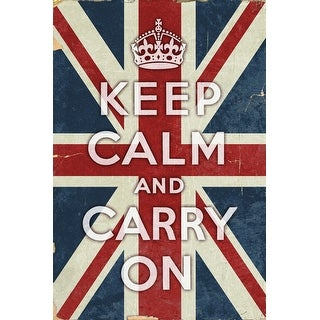 Union Jack - Keep Calm and Carry On - Lantern Press Artwork (Acrylic Serving Tray)