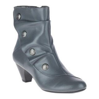 Soft Style Women's Gilnora Ankle Boot Dark Grey Synthetic Kid