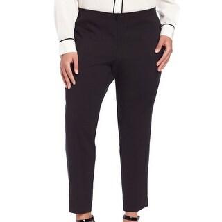 Karen Kane NEW Black Pressed Women's Size 14W Plus Cropped Dress Pants