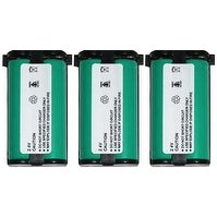 High-Capacity Cordless Phone Replacement Battery 3 PACK for HHR-P513 for use with KX-TG2208B & More