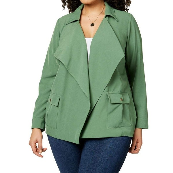 NY Collection Vineyard Womens Plus Fly Away Jacket