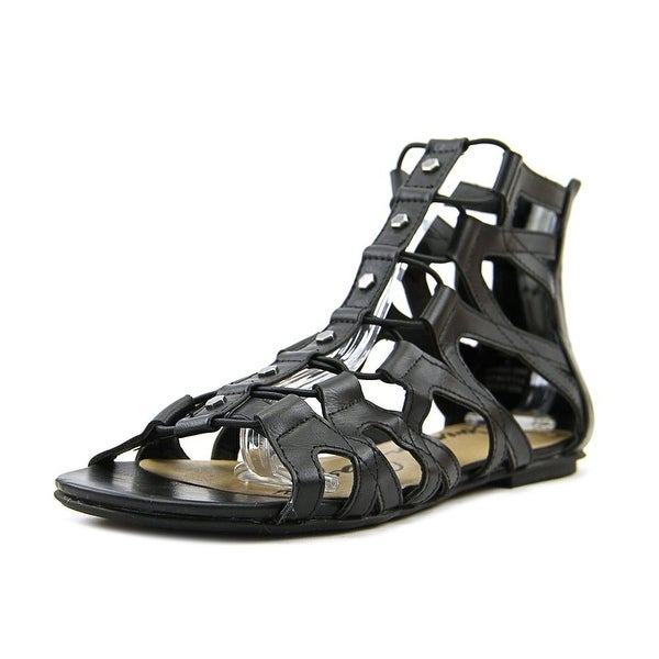 American Rag Aromil Women Open Toe Synthetic Black Gladiator Sandal