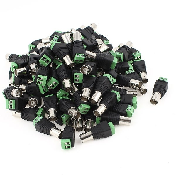 100 x BNC Female Plug Jack Coaxial Connector Adapter for CCTV Camera