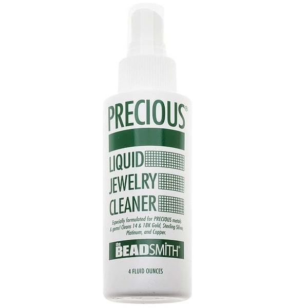 Beadsmith Precious Liquid Jewelry Cleaner - Spray On & Rinse - 4 Ounce Bottle