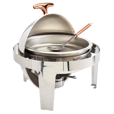 Celebrations by Denmark 5PC 6.3Qt Round Roll Up Stainless Steel Chafing Dish
