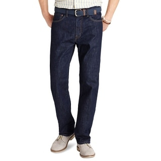 Izod Big and Tall Relaxed Fit Straight Leg Jeans Dark Rinse Blue 46 x 32