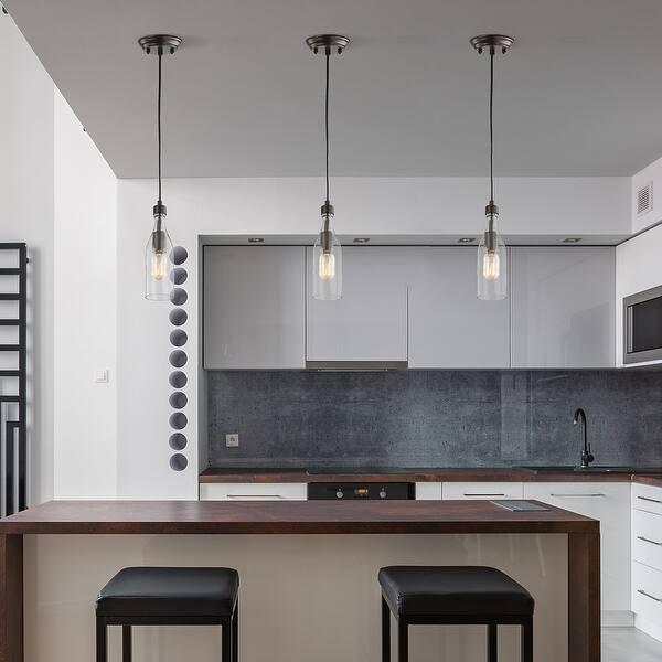1 Light Glass Bottle Island Pendant Lights For Dining Room D5 X H11 2 Overstock 32667897