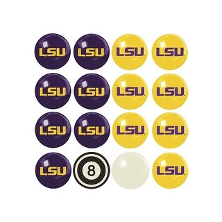 NCAA LSU Billiard Balls Complete Set of 16 Balls