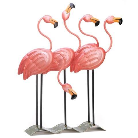 "Tropical Tango Flamingo Statue 8.75x10.5x35.62"""