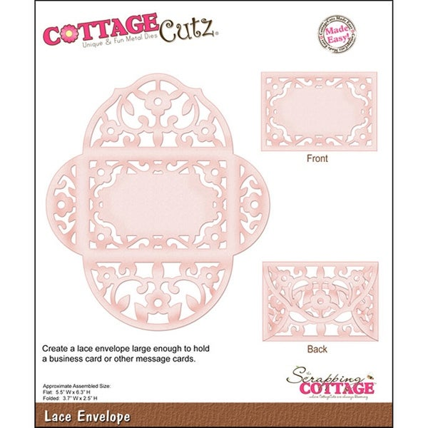 "CottageCutz Die -Lace Envelope 3.7""X2.5"""