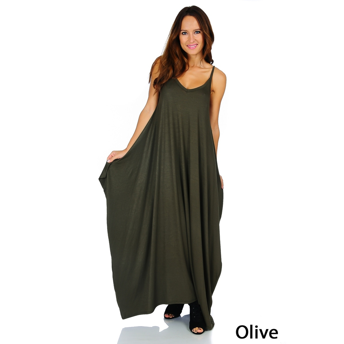 Simply Ravishing Women's Maxi Boho Harem Spaghetti Strap Dress (Size: Small - 3X) - Thumbnail 18