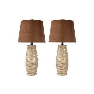 Haldis Beige Ceramic Table Lamp L136534 - Set Of 2 Haldis Beige Ceramic Table Lamp - Set Of 2