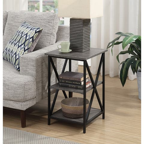 Carbon Loft Ehrlich 3 Tier End Table with Shelves