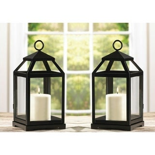 Set of 2 Contemporary Candle Lanterns