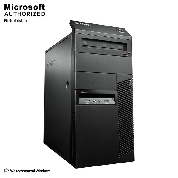 Lenovo M93P TW, Intel i5-4570 3.2GHz, 12GB DDR3, 2TB HDD, DVD, WIFI, BT 4.0, HDMI, W10P64 (EN/ES)-Refurbished