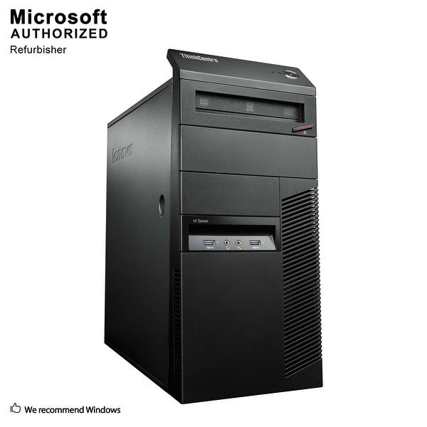 Certified Refurbished Lenovo M93P TW, Intel i5-4570 3.2GHz, 8GB DDR3, 2TB HDD, DVD, WIFI, BT 4.0, HDMI, W10P64 (EN/ES)