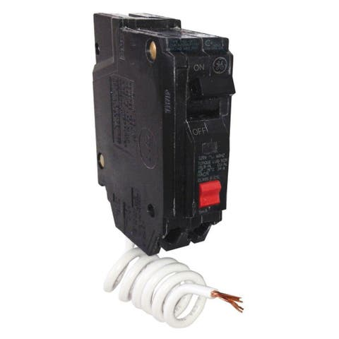 GE THQL1120GFTP Ground Fault Circuit Interrupter with Self-Test, 1-Pole, 20 Amp