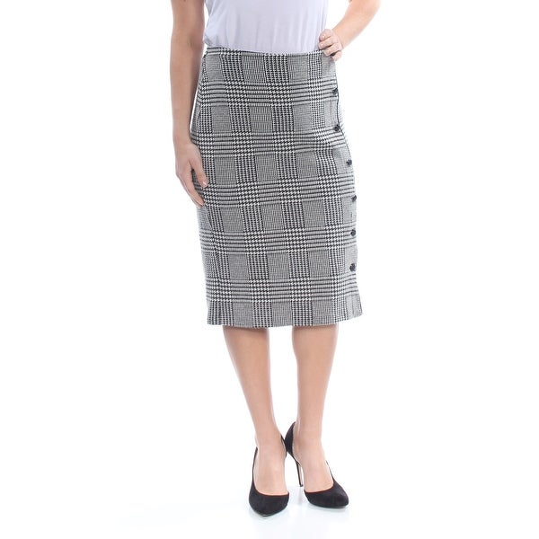 a1089b819a Shop RALPH LAUREN Womens Black Plaid Midi Pencil Wear To Work Skirt Size: L  - Free Shipping On Orders Over $45 - Overstock - 28221069