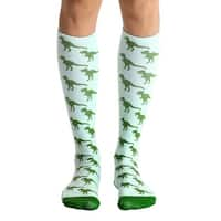 Living Royal Photo Print Knee High Socks: Dinosaur - Multi