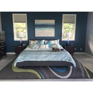 Madison Park Chester Green/ Blue 7-piece Comforter Set