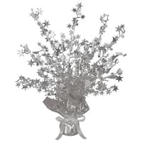 Club Pack of 12 Silver Star Gleam 'N Burst Centerpiece Party Decorations 15""