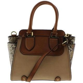 London Fog Womens Satchel Handbag Leather - MEDIUM