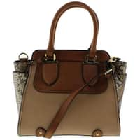 London Fog Womens Satchel Handbag Faux Leather - MEDIUM