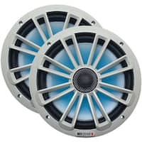 "Mb Quart Nk1-120L Nautic Series 8"" 140-Watt 2-Way Coaxial Speaker System (With Led Illumination)"