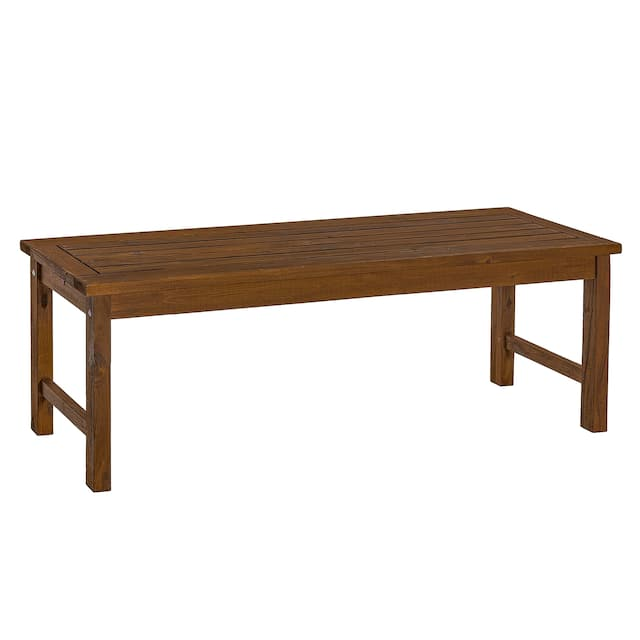 Surfside 53-inch Acacia Outdoor Bench by Havenside Home