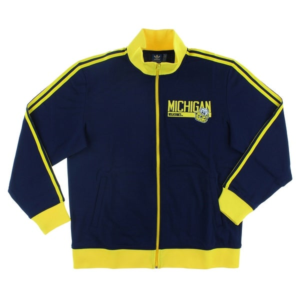 6f0cf98f6 Shop Adidas Mens Michigan Wolverines Track Jacket Navy - Free Shipping  Today - Overstock - 22545087