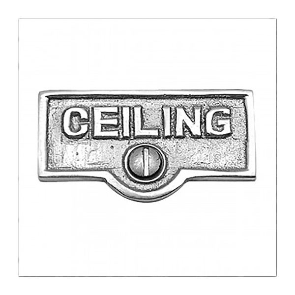 Switch Plate Tags CEILING Name Signs Labels Chrome Brass | Renovator's Supply